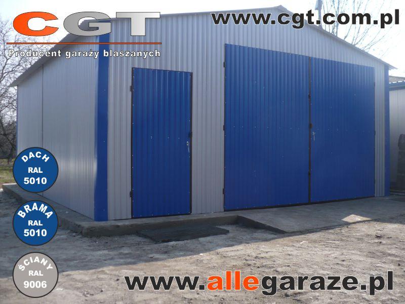 Garaż Blaszany Ral9006 Allegaraże